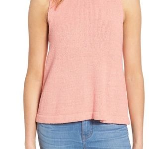 Madewell Sunsetter Sweater Tank, Coral, size XS